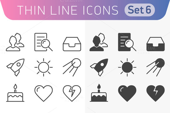 Trendy Line Icons For Web And Mobile
