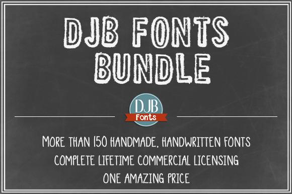 DJB Fonts Bundle Lifetime License