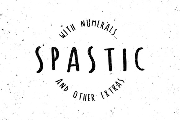 Spastic Hand Drawn Font