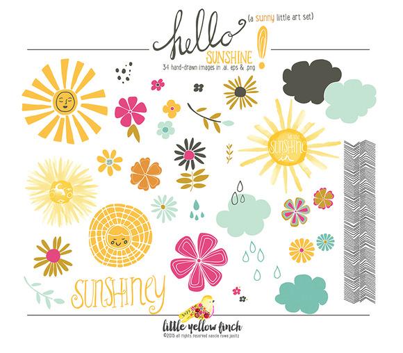 Hello Sunshine Clip Art