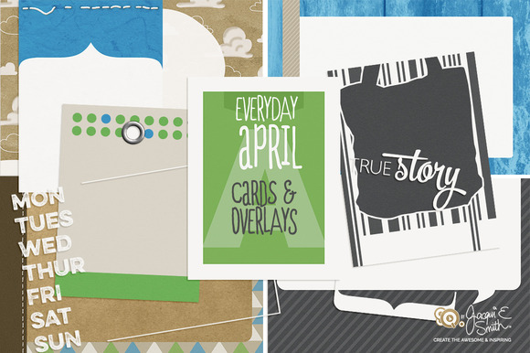 Everyday April Pocket Cards
