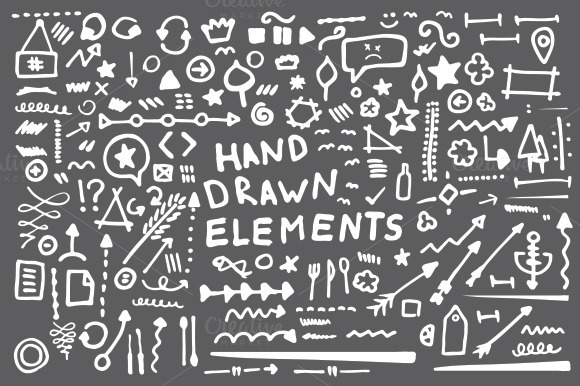 158 Hand Drawn Vector Elements V2