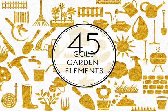 Gold Garden Elements