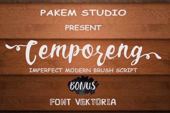 Cemporeng Script Font Vektoria