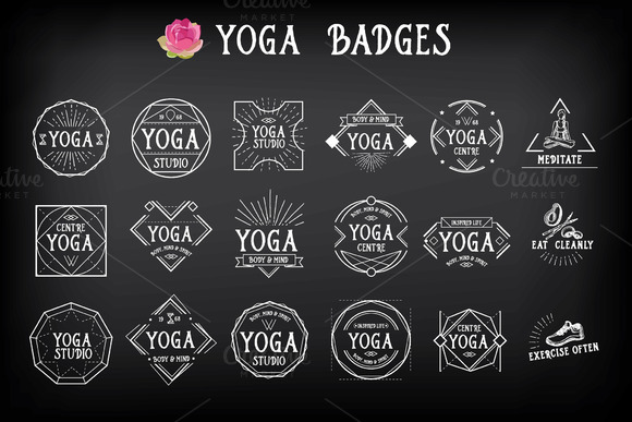 18 Yoga Badges