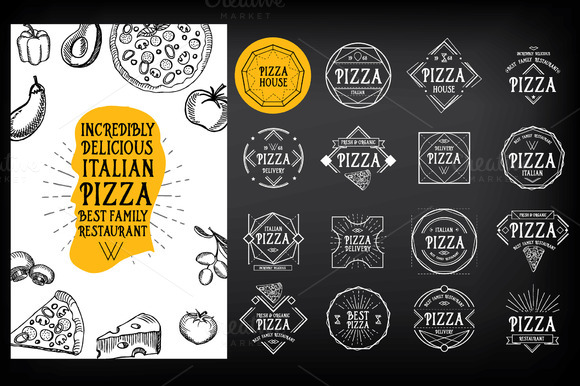 16 Pizza Badges