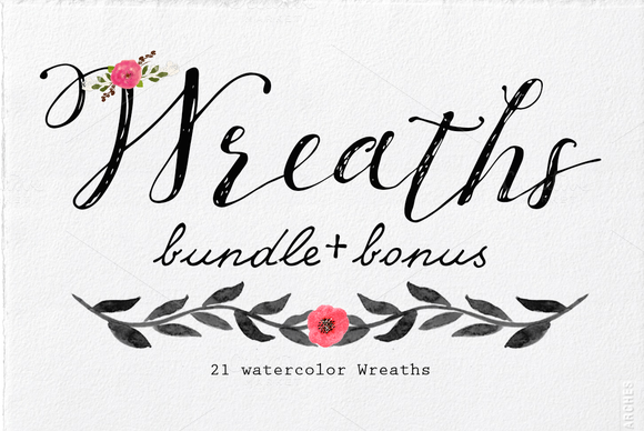Watercolor Wreaths Bundle