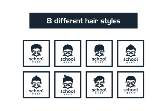 8 School Geek Different Hair Styles