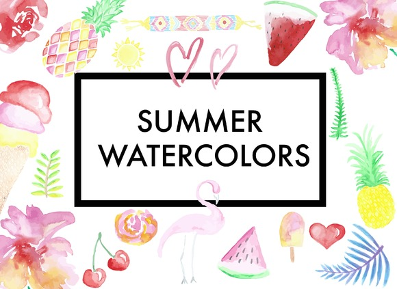 Summer Essentials Watercolor Pack