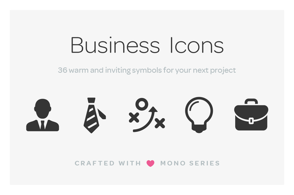 Mono Icons Business