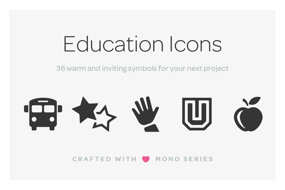 Mono Icons Education