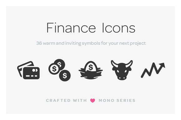 Mono Icons Finance
