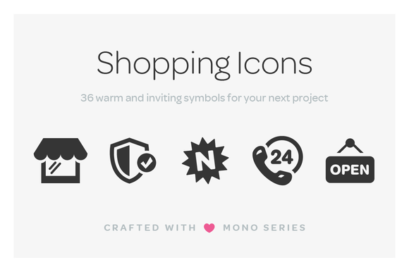 Mono Icons Shopping