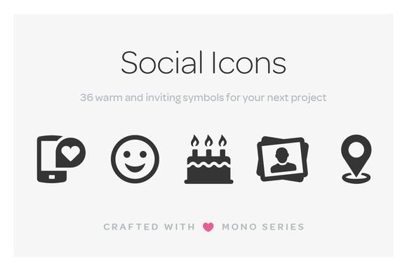 Mono Icons Social