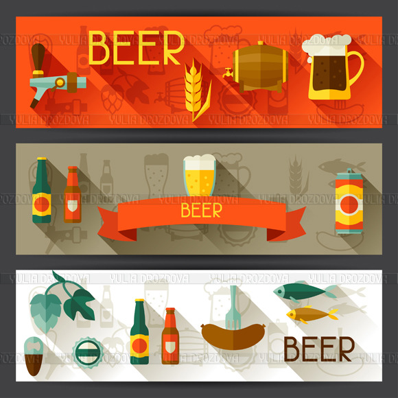 Banners With Beer Icons