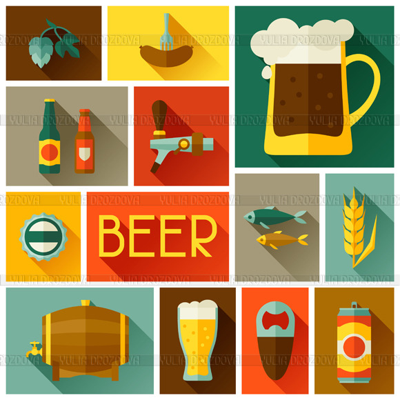 Backgrounds With Beer Icons