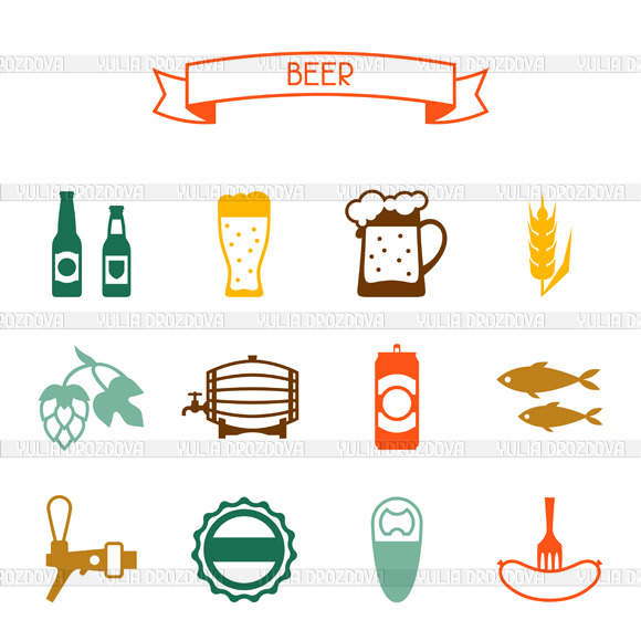 Beer Icons And Pattern