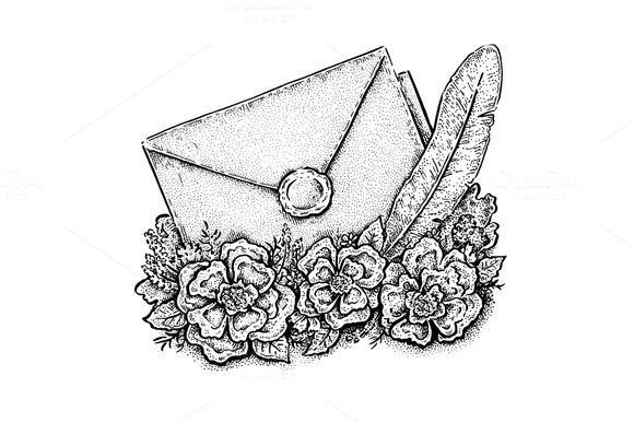 Ink Style Letter Artwork