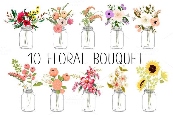 10 Floral Bouquets Ўн3