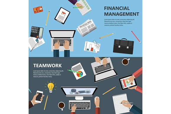 Modern Flat Design Financial Concept