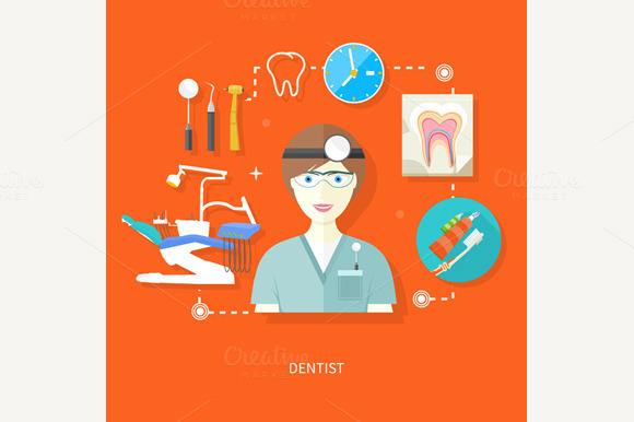 Dentist In Uniform With Instruments