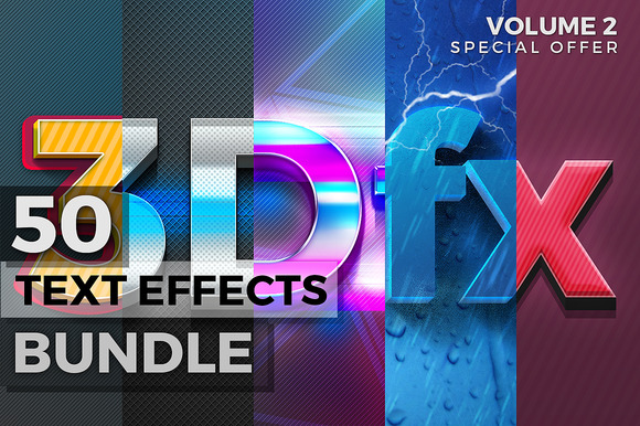 50 Text Effects Bundle