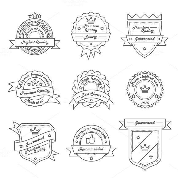 9 Label Logo And Badge Templates