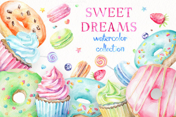 Sweet Dreams Watercolor Collection