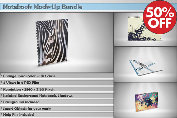 Notebook Mock-Up Bundle