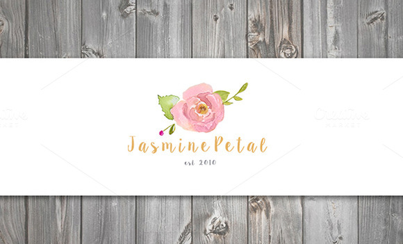 Cute Floral Watercolor Logo