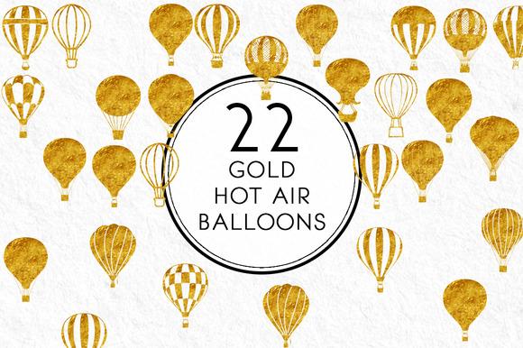 Gold Hot Air Balloons