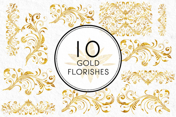 Gold Florishes