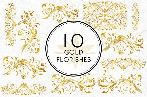 Gold Florishes
