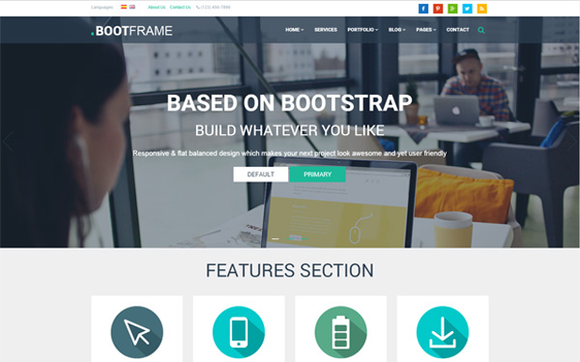 BootFrame Responsive Template