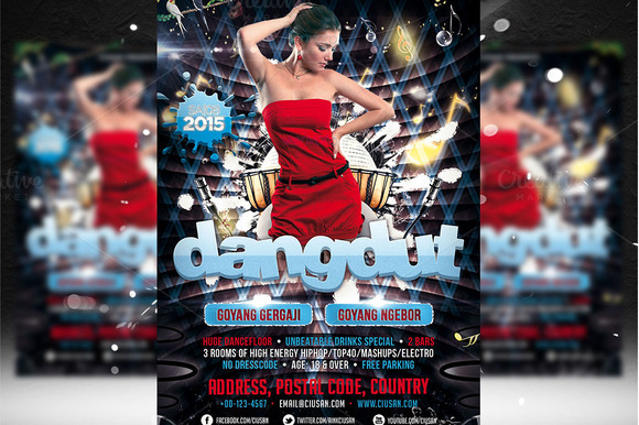 Dangdut Flyer Template