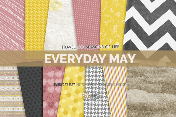 Everyday May Digital Papers