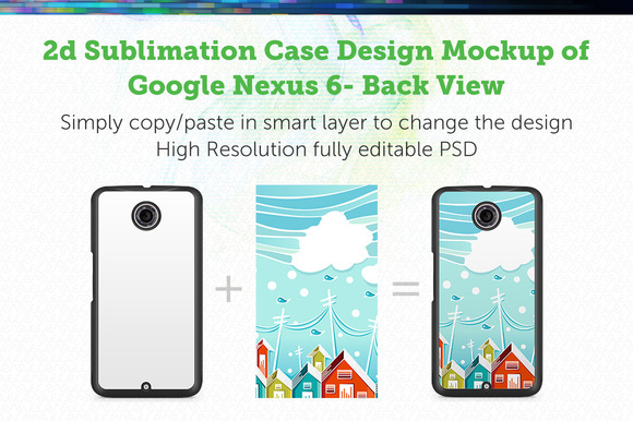 Google Nexus 6 2d Sublimation Mockup