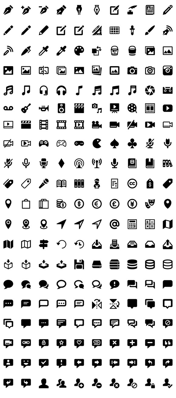 1177 Ultimate Flat Glyphicons