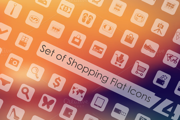 74 Shopping Icons