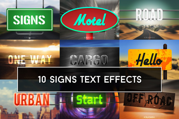 Signs Text Effects