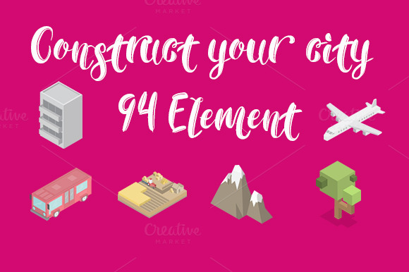 Construct Your City Flat Vector