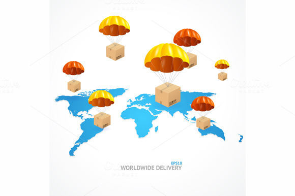 Vector Concept Of Shipping