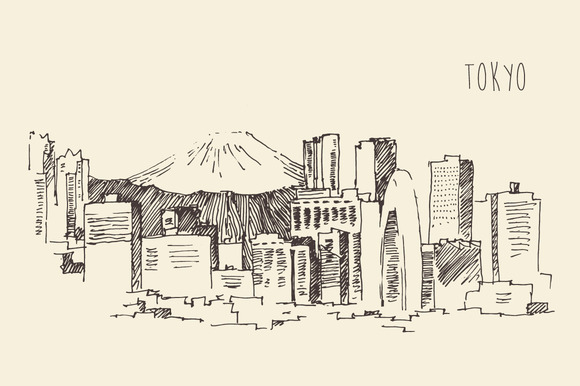 Tokyo City Skyline Japan