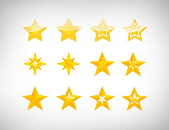 Vector Golden Stars