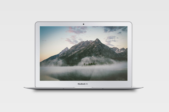 Realistic MacBook Air Mockup