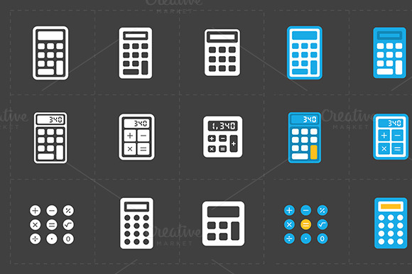 Vector Calculator Icons Set