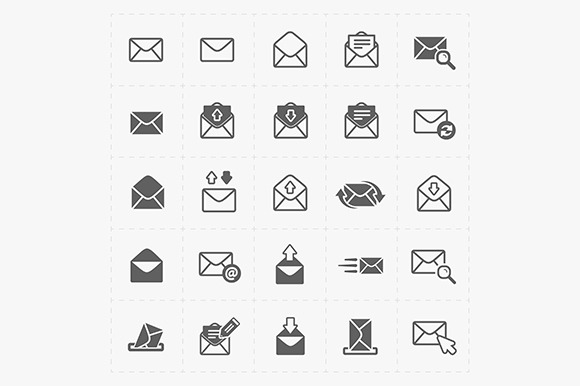 Email And Envelope Icons