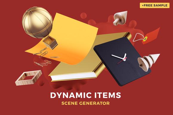 Dynamic Items Scene Generator