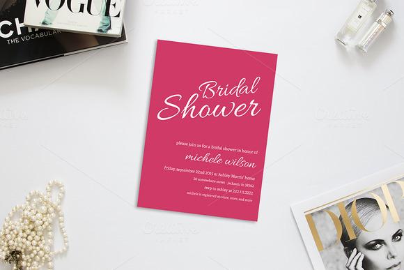 Pretty Bride Bridal Shower Invite