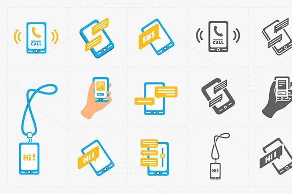 Modern Smartphone Icons